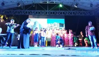 Pelaku Seni Bersama KNPI Kabupaten Bangka Gelar Acara Peduli Palu Donggala