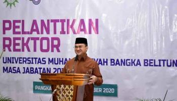 Pelantikan Rektor Universitas Muhammadiyah Babel Satukan Visi Majukan Babel