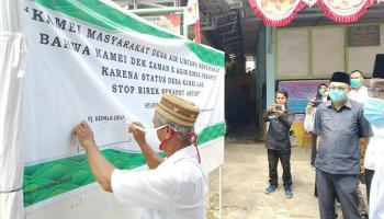 Pemdes Air Lintang Deklarasikan Desa Bebas dari Perilaku Buang Air Besar Sembarang