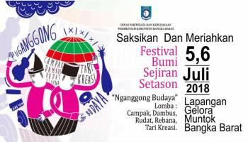 Pemkab Bangka Barat Gelar Festival Bumi Sejiran Setason