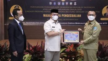 Pemkab Bangka Kembali Raih Penghargaan WTP Yang Kelima Secara Berturut