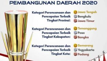 Pemkab Bangka Raih Penghargaan Pembangunan Daerah Terbaik Seluruh Indonesia