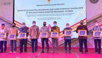 Pemkot Pangkalpinang Raih Penghargaan Pelaksanaan SKB CPNS 2019