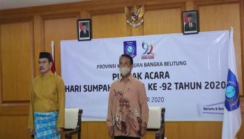 Pemprov Babel Hadiri Peringatan Sumpah Pemuda ke-92 se-Indonesia