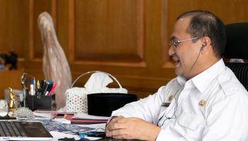 Pemprov Babel Jelaskan Penanganan Covid-19 dalam Seminar Internasional Indonesia-Malaysia