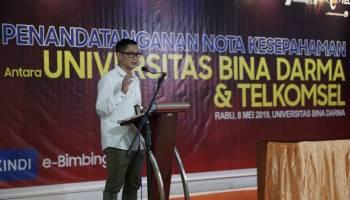 Pengen Wujudkan Kampus Digital, Telkomsel Bantu Universitas Bina Darma Palembang
