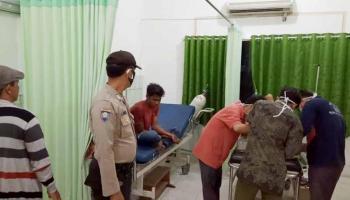 Pengendara Vixion dan Jupiter Terlibat Lakalantas di Parittiga, Korban Dilarikan ke RS