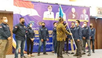 Pengurus PWI Bangka Tengah Resmi Dilantik, Algafry Ajak Wartawan Bersinergi Bangun Daerah