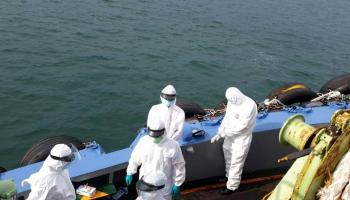 """Pergantian Kru Kapal Telah Selesai, Status """"Dalam Karantina"""" Kapal Tanker MT. Gebang Dicabut"""