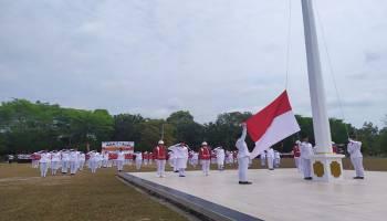 Peringatan HUT Kemerdekaan Republik Indonesia di Bangka Tengah Berlangsung Sukses, Bupati : Terima Kasih Paskibra
