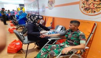 Peringati Hari Juang TNI AD  2019, Prajurit Yonif 141/AYJP Gelar Donor Darah