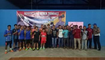 Peringati HUT ke 73 Bhayangkara, Polsek Toboali Gelar Turnamen Bulu Tangkis