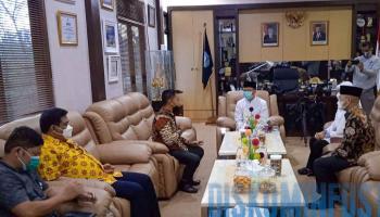 Perkuat Sinergitas, Ketua DPRD Babel Temui Bupati dan Wakil Bangka Tengah