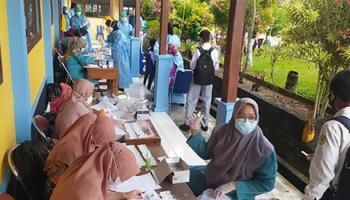 Persiapan Pembelajaran Tatap Muka, Pemkab Bangka Vaksinasi di 5 Sekolah