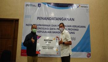 Pertamina Bagikan 1.000 Masker ke Masyarakat Bangka Belitung