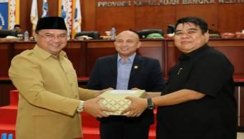 Pimpinan DPRD Babel Apresiasi Pemprov dapat WTP, Gubernur Ucapkan Terimakasih