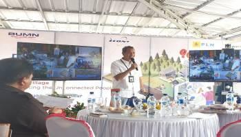 PLN Bangun Warkop Ides Desa Lenggang Beltim, Warga Desa Diharapkan Melek Informasi