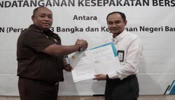 PLN UP3 Bangka Tanda Tangani MoU dengan Kejari Bangka Perkuat Koordinasi