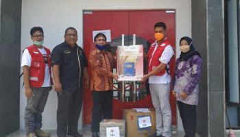 PMI Babel Distribusikan Bantuan Pencegah Covid-19 ke PMI Kabupaten dan Kota