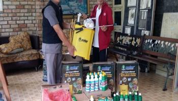 PMI Bangka Barat Terima Bantuan Peralatan Disinfektan dari IKABA Muntok