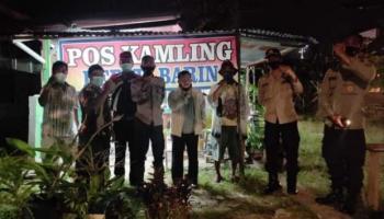Pokdar Kamtibmas Resort Pangkalpinang Keliling Poskamling, Jumli: Kita Ciptakan Keamanan dan Ketertiban