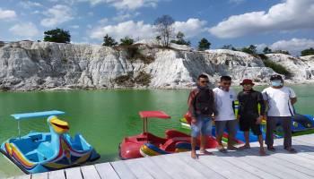 Pokdarwis dan BUMDes NJA Ubah Wisata Danau Kaolin Semakin Menarik