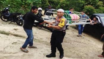 Polair Bangka Barat, Bantu Seberangkan Jenazah dari Muntok ke Ogan Ilir