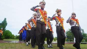 Polcil Polres Bangka Barat Unjuk Aksi di HUT Bhayangkara ke -72
