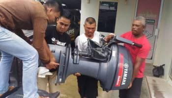 Polisi Ringkus Pelaku Pencurian Mesin Tempel