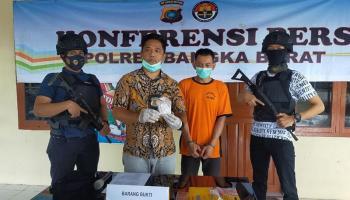 Polres Bangka Barat Gelar Konferensi Pers Pengungkapan Kasus Narkoba yang Melibatkan Karyawan PT Timah