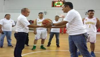 Polres Pangkal Pinang Gelar Turnamen Bola Basket