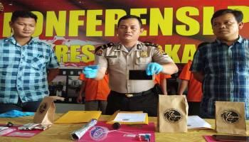 Polres Pangkalpinang Ringkus 3 Pelaku Penyalahgunaan Natkotika