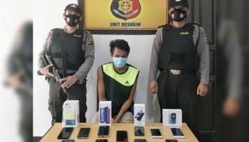 Polsek Kelapa Sita 11 Ponsel Hasil Curat, Para Pemilik Silahkan Melapor