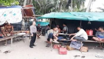 Polsek Muntok Himbau Penambang Timah Dusun Jungku Hentikan Aktivitas