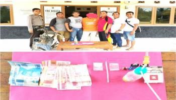 Polsek Tempilang Amankan Pengedar Narkoba di Kebun Sawit