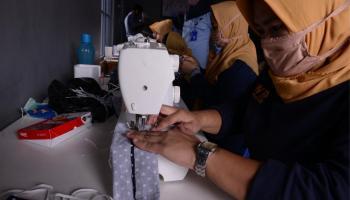 Produksi Masker Untuk Dibagikan ke Masyarakat, PT. Timah Gandeng Lapas Perempuan Pangkalpinang