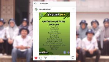 Program English Day Mahasiswa KKN UBB Bukit BetungDigemari Warga