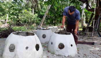 Program PPM PT Timah, Nelayan Tanjung Gunung Buat Rumpon Ikan