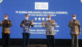 PT KBI Raih Tiga Penghargaan Dalam Ajang Top CSR Award 2021
