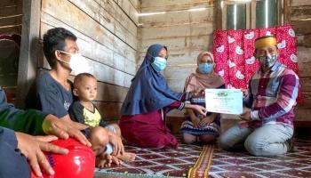 PT Timah Bantu Biaya Operasi Ibu Anak Satu Penderita Kanker Ovarium