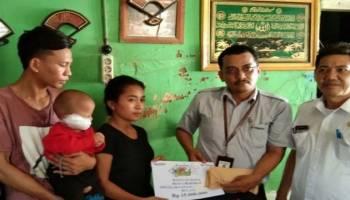 PT Timah Bantu Pengobatan Balita Reyhan di Muntok