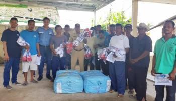 PT Timah Beri Bantuan 235 Jaring Puket ke Nelayan