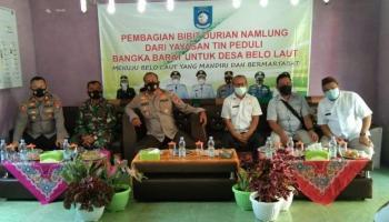 PT Timah Beri Bantuan 3.000 Bibit Durian Namlung untuk Masyarakat Belo Laut