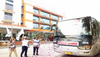 PT Timah Fasilitasi 1.100 Mahasiswa dan Masyarakat Mudik Bareng ke Kampung Halaman