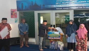 PT Timah Tbk Unit Toboali Santuni Anak Yatim dan Dhuafa