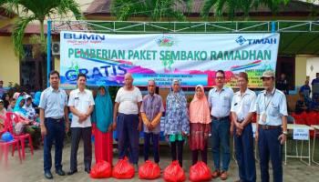 PT Timah Unit Metalurgi Muntok Salurkan 500 Paket Sembako