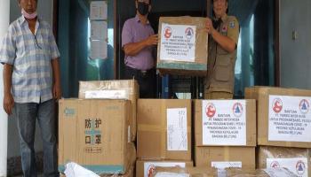 PT. Tinindo Inter Nusa Salurkan Bantuan APD ke Pusdalops Gugus Tugas Covid-19
