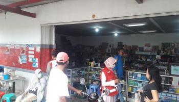 Puasa Hari ke Lima, PMI Babel Promosi Kesehatan di Pasar Air Itam