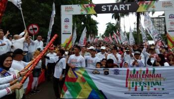 Puluhan Ribu Masyarakat Babel Ikuti Gerak Jalan Milennials Road Safety Festival 2019