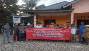 Puluhan Warga Dari Empat Kelurahan dan Satu Desa di Kecamatan Koba Deklarasikan Tolak Aktivitas Tambang Ilegal